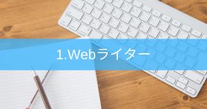 1.Webライター   クラウドソーシングを利用した記事作成
